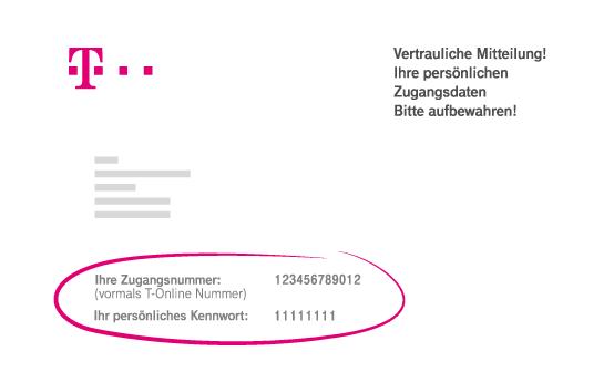 Kennwort persönliches t ändern online Telekom geändertes